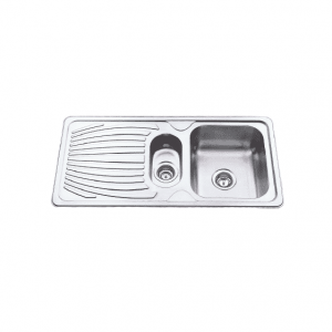 R Line Left Single Bowl & 3/4 with Drainer