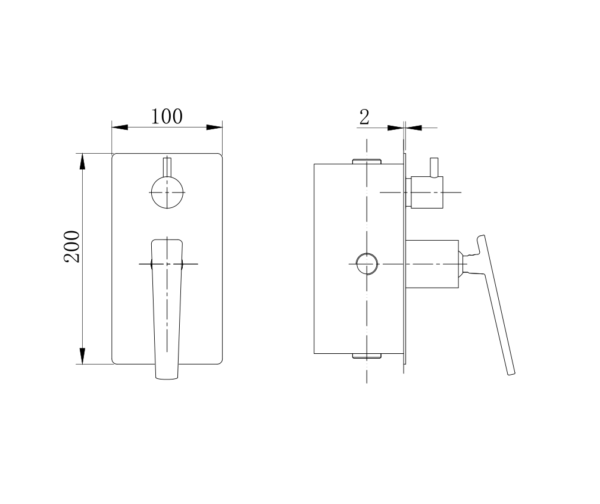 Cromo Wall Mixer I Specifications