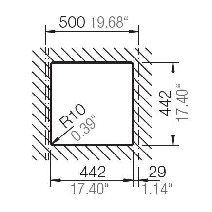 HAFELE QUARTZ SINK - 570.36.380 - Single Bowl Spec 2