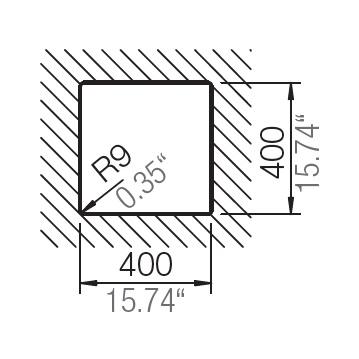 HAFELE QUARTZ SINK - 570.36.380 - Single Bowl Spec 3