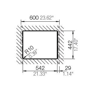 HAFELE QUARTZ SINK - 570.36.390 – Laundry Bowl Spec 2
