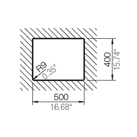 HAFELE QUARTZ SINK - 570.36.390 – Laundry Bowl Spec 3