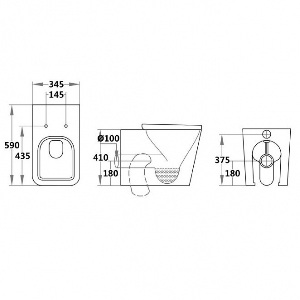 Cascata I WHSC - Wall Hung Toilet Specifications