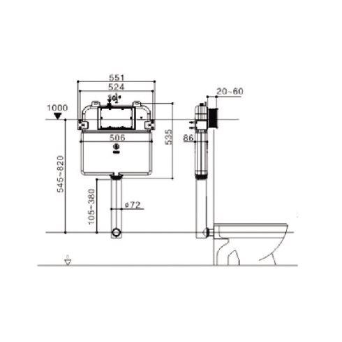 Framed Inwall Cistern