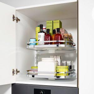Kessebohmer Turnmotion II Overhead Kitchen Storage in white