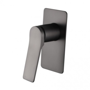 Ivy Square Brushed Gun Metal Grey Built-in Shower Mixer (Brass)