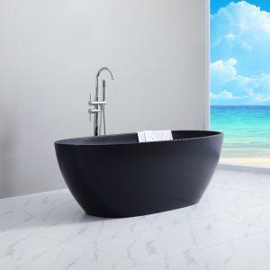 Nero Free Standing Bath Matt Black -1700mm